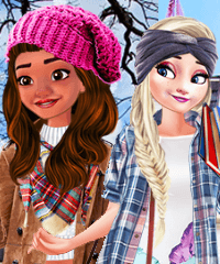 Elsa and Moana Exchange Students Dress Up Game