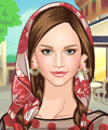 Braids with Scarves Dress Up Game