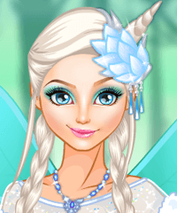 Elsa Ice Fairy Make Up Game