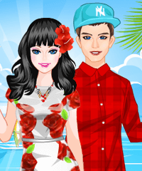 Sunshine Honeymoon Couple Dress Up Game