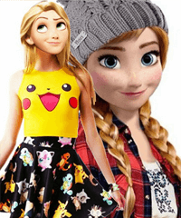 Anna vs Rapunzel Teen Queen Game