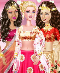 Bonnie and Friends in Bollywood Dress Up Game