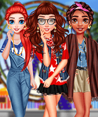 Princesses Coachella Calling Dress Up Game
