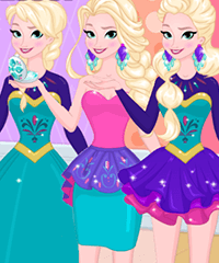 Now and Then Elsa Sweet Sixteen Dress Up Game