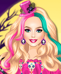 Barbie Halloween Night Dress Up Game