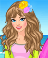 Surfing Diva Dress Up Game