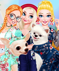 Princesses and Pets Dress Up Game