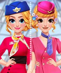 Blonde Princess Cabin Crew Makeover Game
