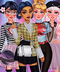 Princesses E-Girl Style Dress Up Game