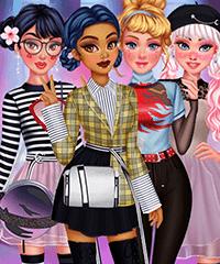 Princesses E-Girl Style Dress Up Game