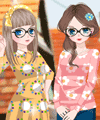 BFF on Summer Vacation Dress Up Game