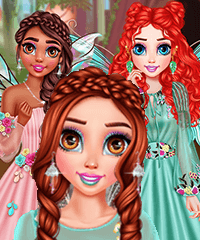 Princesses Visiting Fairyland Dress Up Game