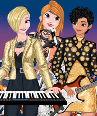 Princess College Band Big Gig Dress Up Game