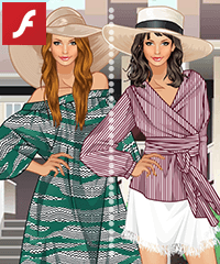 Straw Hats Fashion Dress Up Game