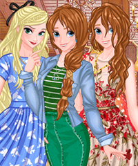 Princess Spring Shopping Sale Dress Up Game