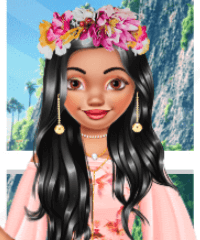 Moana Floral Crush Dress Up Game
