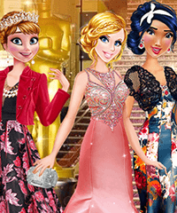 Cinderella Academy Awards Collection Dress Up Game