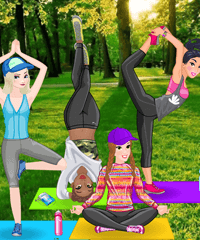 Princess Yoga Dress Up Game