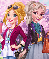 Barbie and Elsa BFF Dress Up Game