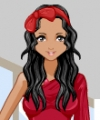 Girl in Red Dress Up Game