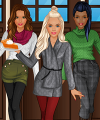 BFF Studio Thanksgiving Dinner Dress Up Game