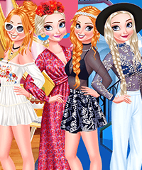 Sisters Summer Parties Day and Night Dress Up Game