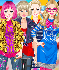 Barbie Different Styles Dress Up Game