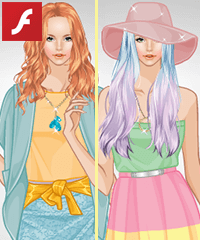 Ice Cream Colors Dress Up Game