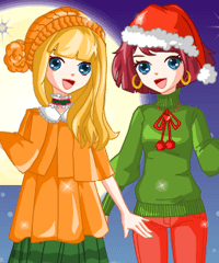 Lovely Christmas Dress Up Game