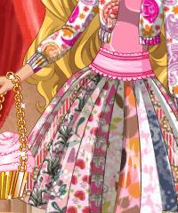 Barbie Valentines Patchwork Dress Design Game