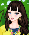 Irene Spring Walk Dress Up and Make Up Game