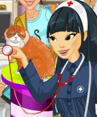 Veterinary Clinic Vet Volunteer Dress Up Game