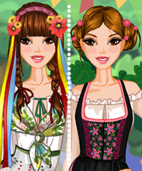 My Country Folk Costume Dress Up Game