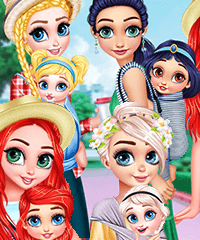 Princesses Baby Wearing Fun Dress Up Game