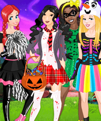 Miss Halloween Princess Dress Up Game