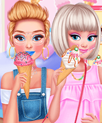 Princess We Love Ice Cream Dress Up Game