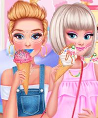 Princess We Love Ice Cream Dress Up Game