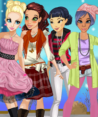Friends in Paris Dress Up Game