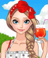 Elsa on the Beach Dress Up Game