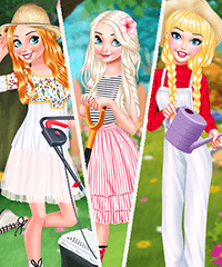 Princesses Gardening in Style Dress Up Game