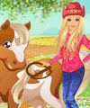 Barbie Country Horse Dress Up Game