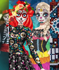 BFFs Day of the Dead Dress Up Game