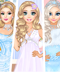 Wedding Style Cinderella vs Rapunzel vs Elsa Dress Up Game