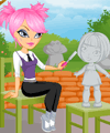 Sculpture Garden Dress Up Game