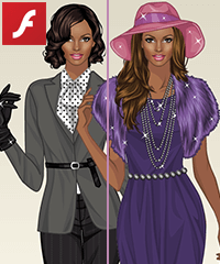 Black Pearls Dress Up Game