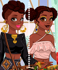 Around the World African Patterns Dress Up Game