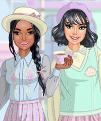 Pastel Academia Fashion Dress Up Game