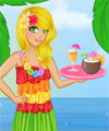 Tiki Cafe Waitress Dress Up Game