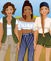 Vacation Stylist Dress Up Game