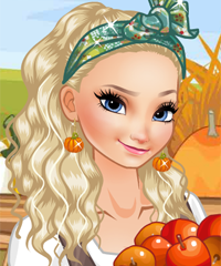 Elsa Harvest Time Dress Up Game